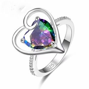 S925 Sweet heart silver plated ring S9